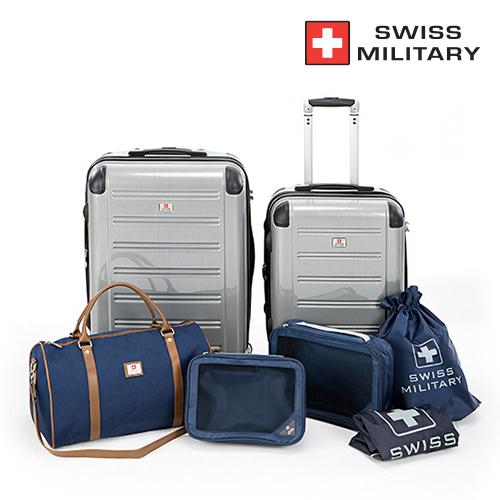 [SWISS MILITARY] 스위스밀리터리 PC 여행용 가방 7종세트 Polycarbonate 7종