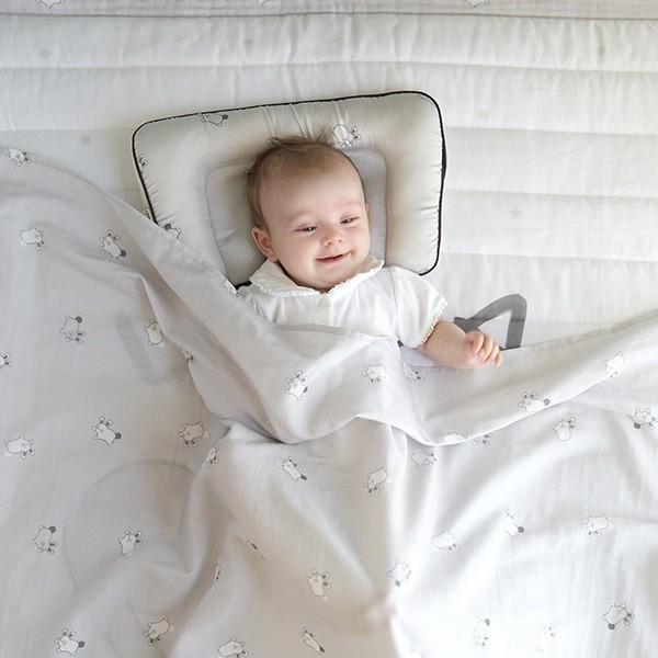 [Milo&Gabby] 밀로앤개비 퓨어케어 아기이불 3종(짱구베개+양면패드+블랭킷/베개솜 미포함) MNBA-003(모던그레이로라)