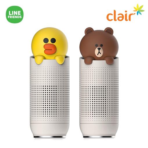 [Clair] 클레어 라인프렌즈 공기청정기 브라운, 샐리(노랑)★색상 선택 필수