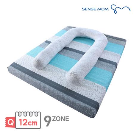 [SENSE MOM] 센스맘 9-ZONE 에어매트리스 프리미엄 12cm 퀸+바디필로우 세트